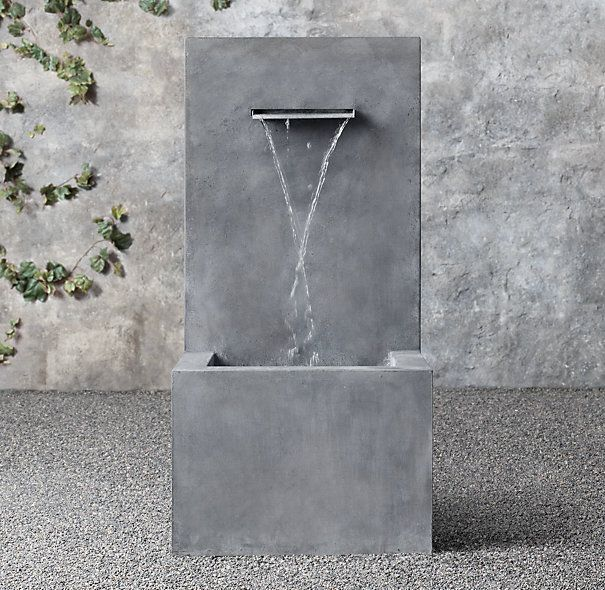 Weathered Zinc Fountain/RH