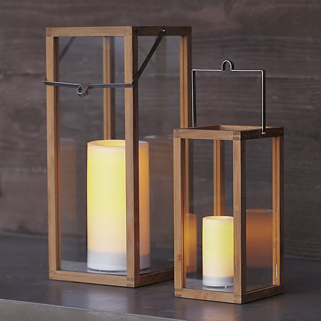 Crosby Wooden Hurricane Lanterns