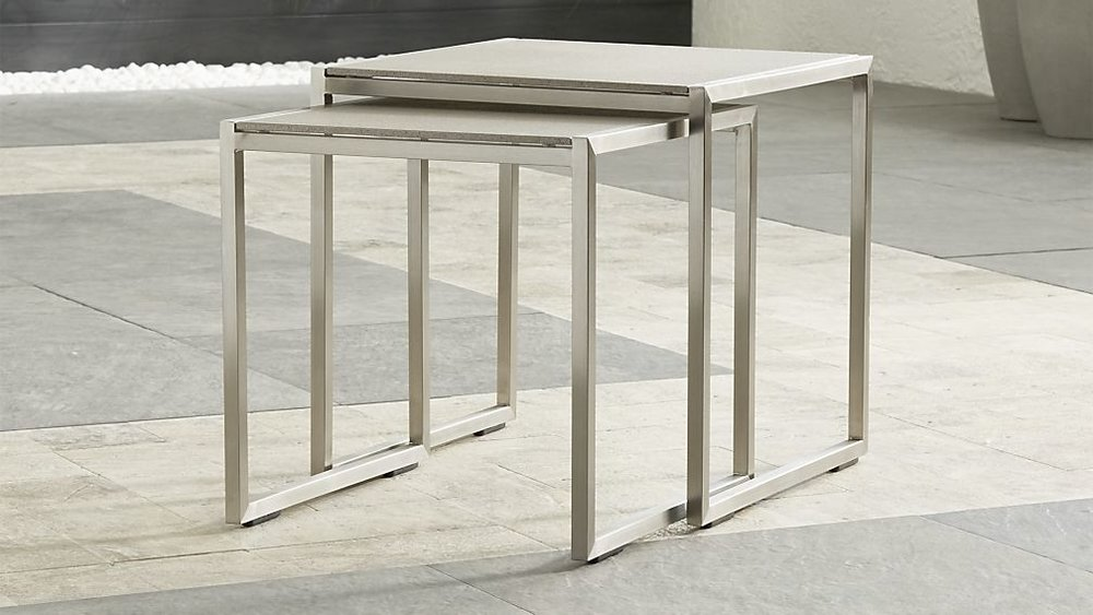 Dune Nesting Tables from Crate and Barrel