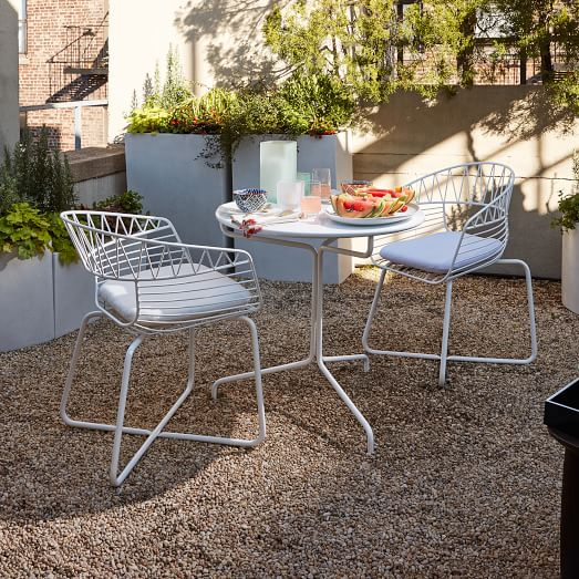 Soliel Metal Bistro set from West Elm