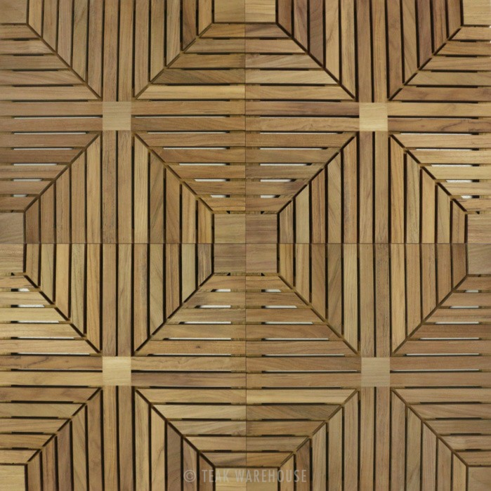 Teak tiles from Teak Warehouse