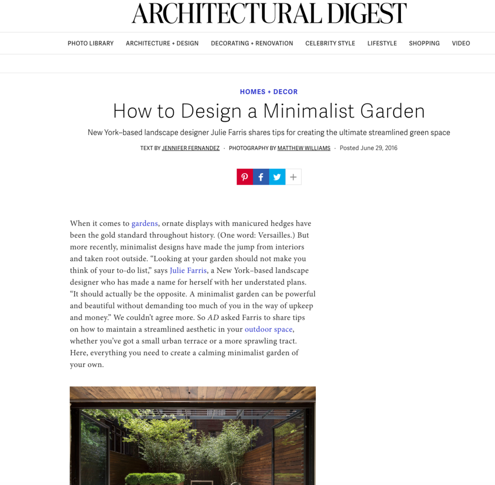Read Architectural Digest article here
