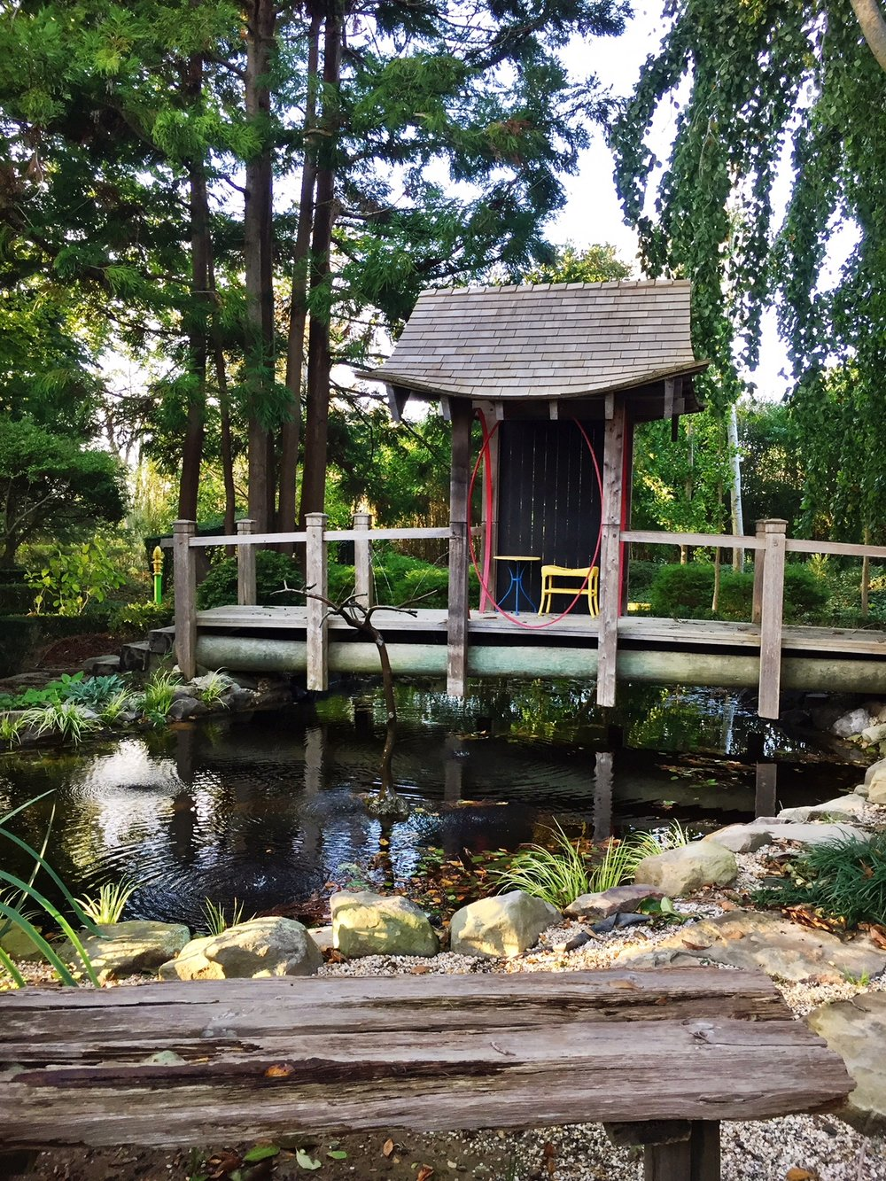 The Garden Is A Cocktail Of Historic And Geographic Influences. This  Japanese  Inspired Bridge, Structure, And Man Made Frog Pond Are Theatrical  And ...