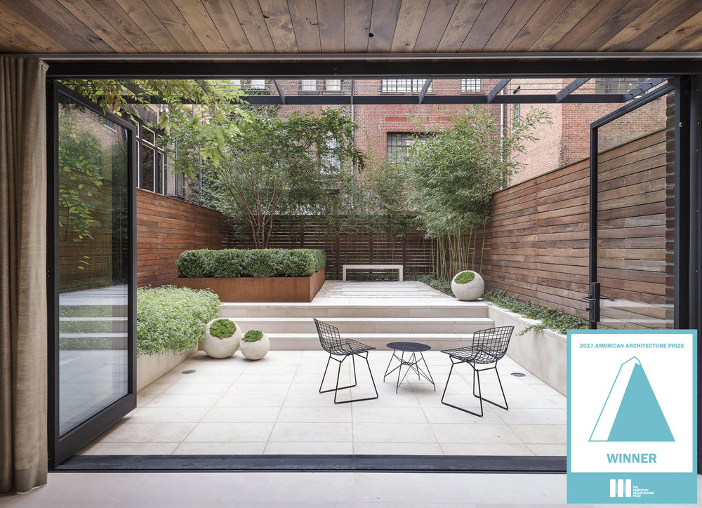 The Greenwich Village Townhouse Garden was the winner of the  2017 American Architecture Award  in the Residential Landscape Category