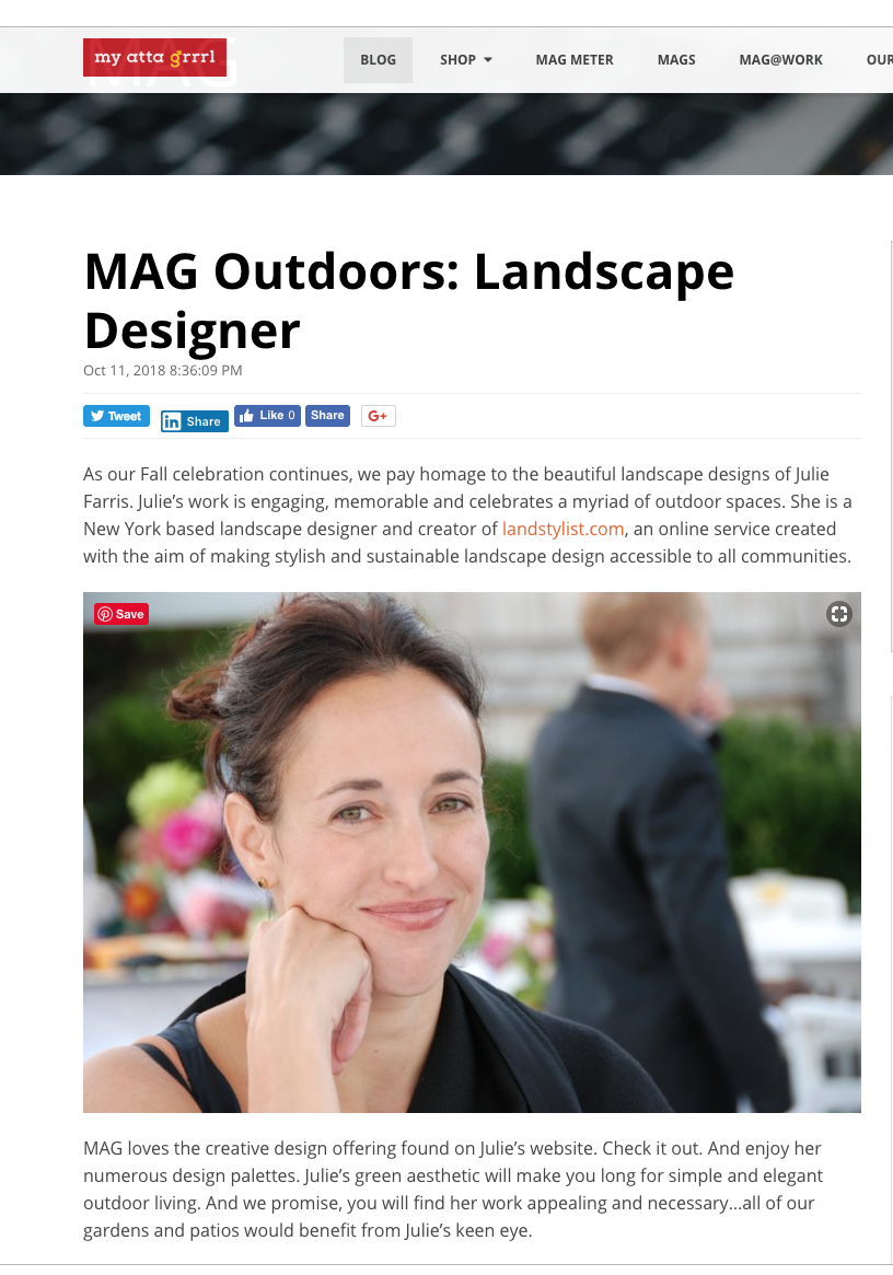Landstylist is featured on  My Atta Grrrl