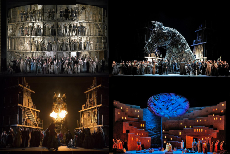 "LES TROYENS @ SAN FRANCISCO OPERA - ""Les Troyens"" by Hector Berlioz is a monster of an opera. It's actually more like two operas in one. Each act is long enough to stand by itself, and the environments each of the acts require are distinctly different. Our production was big and an outright challenge to fit on the stage of the War Memorial Opera House in San Francisco. That's what makes it so unique. We bring visionary artistic concepts to life and take the audience on a trip to fantasy and dream worlds. Our show (watch highlights here) with all of its sets, props and costumes at the San Francisco Opera traveled in 16 HC shipping containers from our co-producer, the Royal Opera House Covet Garden to the Port of Oakland. We unloaded and inspected everything, hauled the parts that required repair, altering or touching-up to our scenery and costume shops and gave the props a good makeover. For the stage to hold the weight of the big set pieces, the crew covered the stage floor with plywood, which also helped with the manual movement of the big scenery trucks a vista. The team did a magnificent job preparing and running this show.Music Director: Donald Runnicles, Production: David McVicar, Director: Leah Hausman, Set Design: Es Devlin, Costume Design: Moritz Junge, Original Lighting Design: Wolfgang Göbbel, Lighting Design: Pia Virolainen Chorus Master: Ian Robertson, Choreographer: Lynne Page, Fight Director: Dave Maier, Associate Choreographer: Gemma PayneCo-Production between: San Francisco Opera, Royal Opera House Covent Garden, Teatro alla Scala & Wiener Staatsoper"