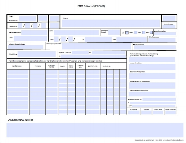E-Card PDF template (front)
