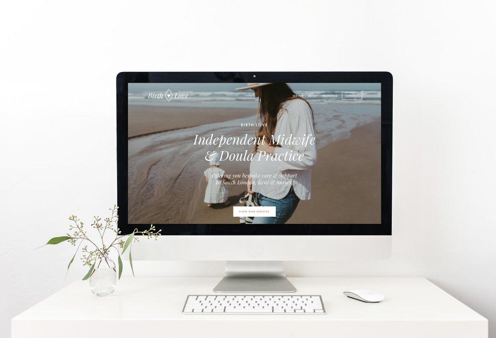 Birth Love Squarespace Website Design by Freya Rose Tanner computer screen .jpg