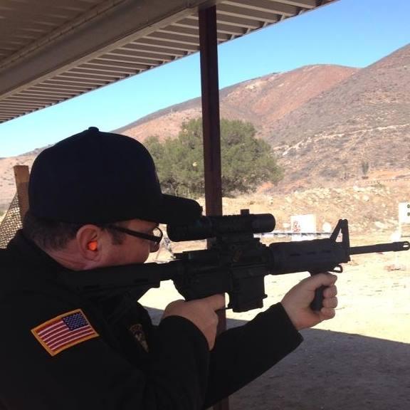 Tim Donnelly Firing a AR-15