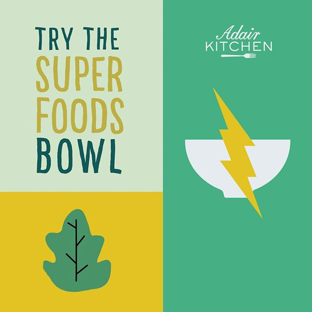 Rumor has it the super foods bowl can give you super powers ⚡including but not limited to increased energy levels, vitamins, and minerals! #superfood #lunch