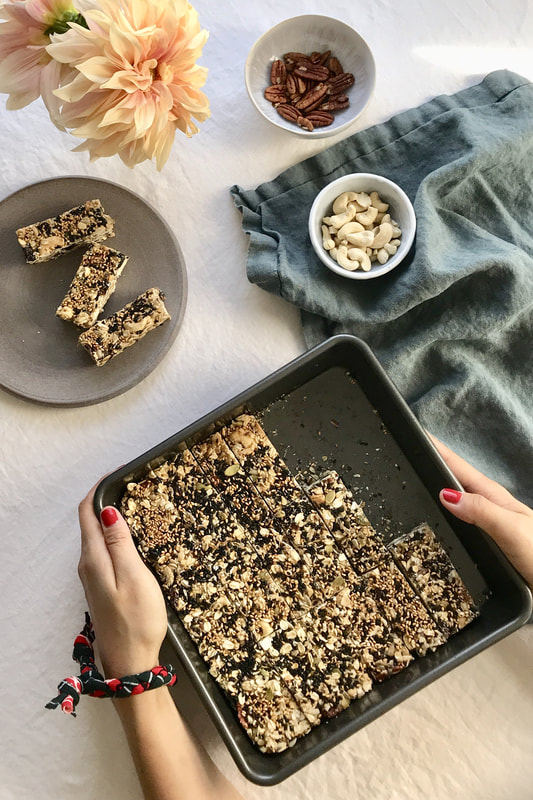 Healthy Tahini Granola Bars | Nourish SF