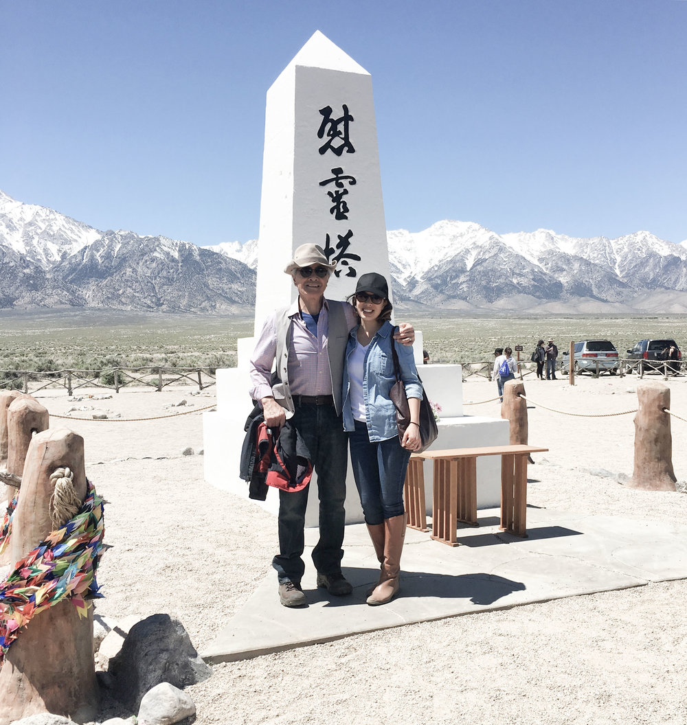 Diana and her Dad at the annual Manzanar Pilgrimage in 2017