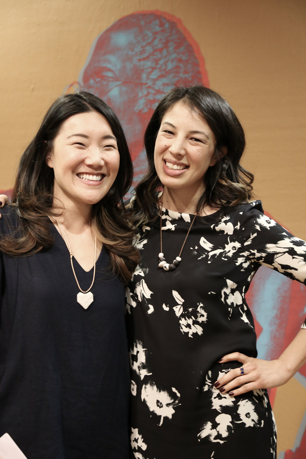 Me and Diana, taken at our Day of Remembrance event at the California Historical Society (rocking our  Alyson Iwamoto  necklaces!) Photo by Dena Paez.