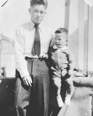 Diana's grandfather and dad (taken in San Francisco right before the war)