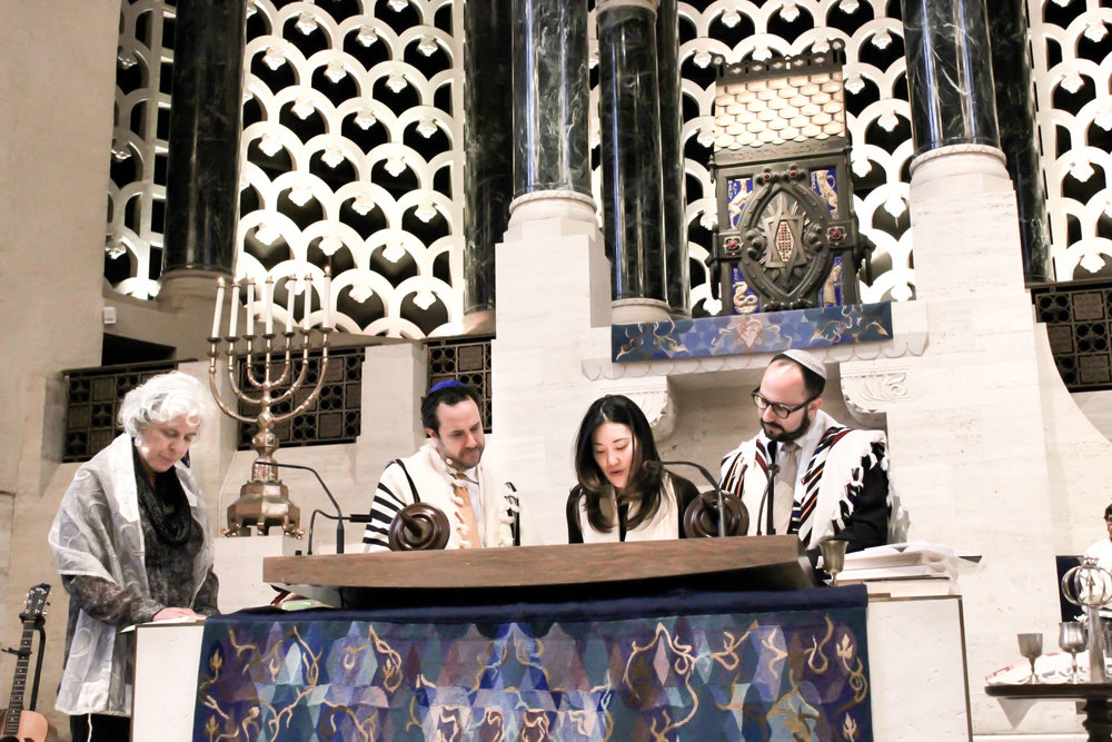 Reading Torah at my b'nei mitzvah service