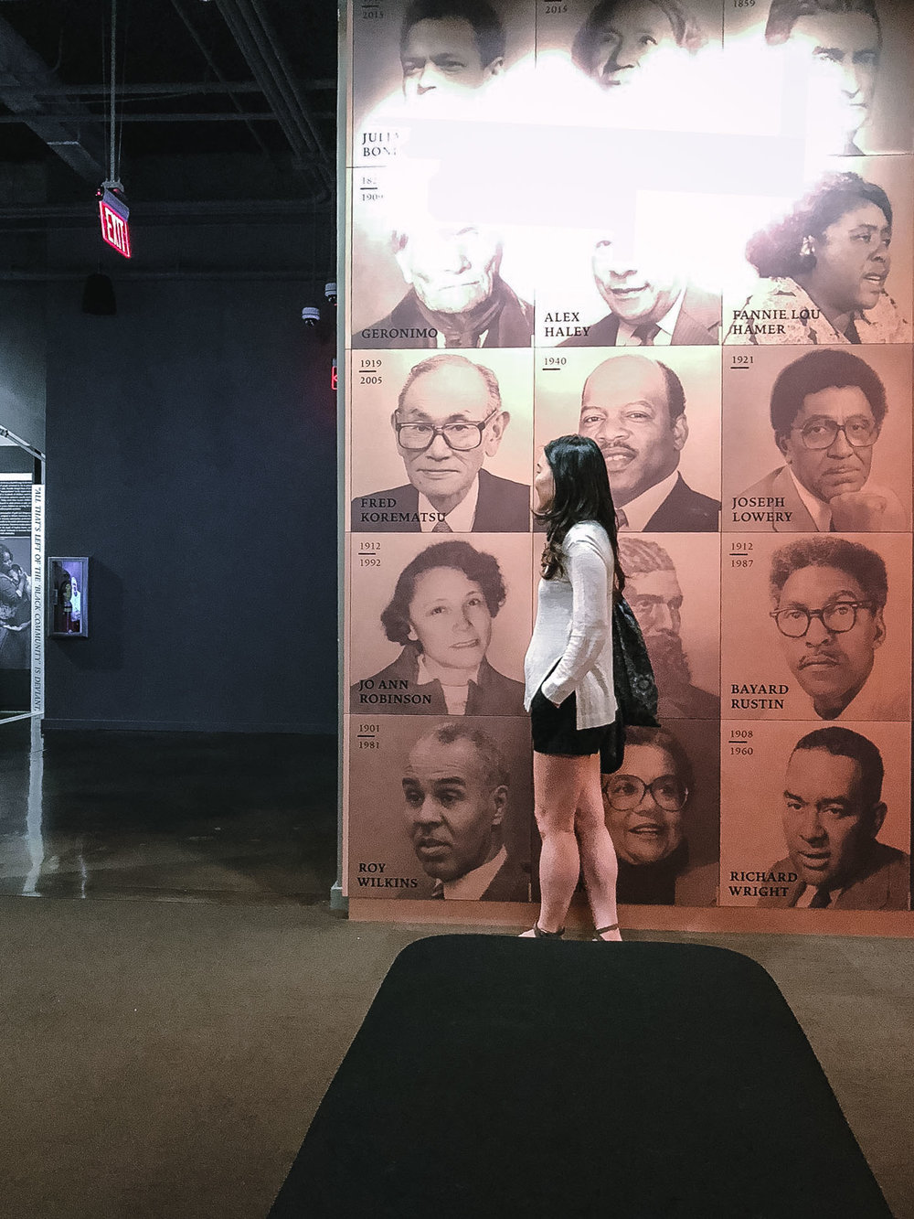 The back of the museum pays tribute to Civil Rights activists throughout history, including Japanese-American activist Fred Korematsu.