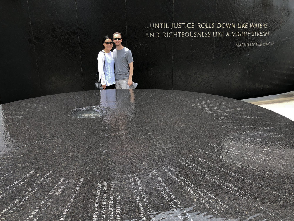 The Southern Poverty Law Civil Rights Memorial by artist Maya Lin