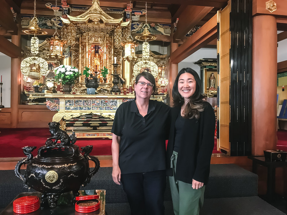 Me with Elaine Sensei at the Buddhist Church of San Francisco