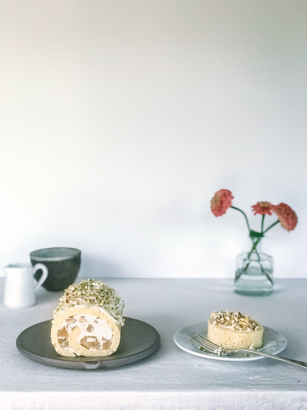 Rosh Hashanah Apples and Honey Roll Cake