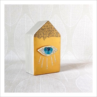 Nourish Co. Products | Evil Eye Tzedakah Box
