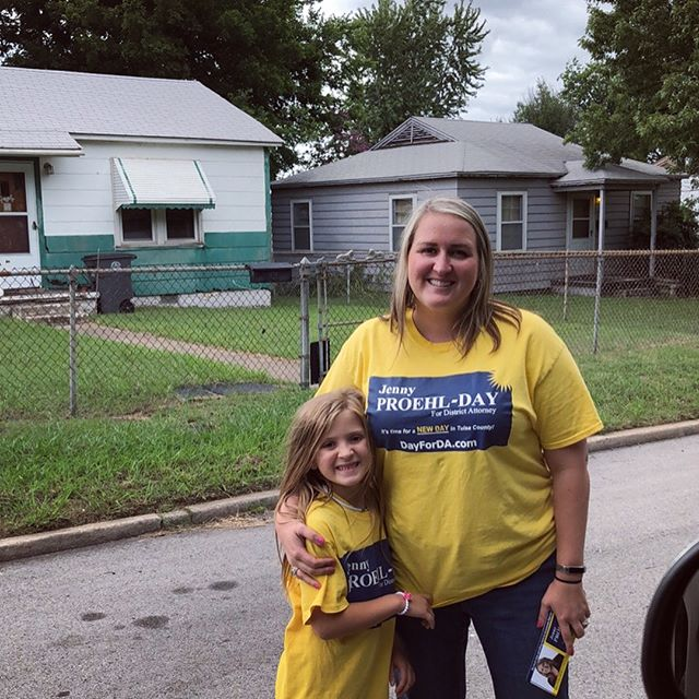 Knocking doors in Tulsa with my family.  We got to see some free range city chickens.  I wonder if they have any eggs for sale? 😃