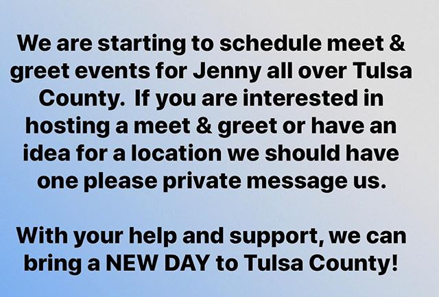 Help elect Jenny Proehl-Day as Tulsa County District Attorney!