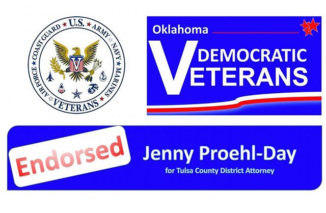 I am proud to announce I have been endorsed by the Oklahoma Democratic Veterans.  Tulsa County has a Veterans Court but funding has been cut due to a drop in the number of participants. The District Attorney's Office is the gate keeper to this program. We need to have a renewed emphasis on identifying veterans who have entered into the criminal justice system and sending them to this court to get them the help they need. We cannot turn our backs on those who willingly gave their service to protect our freedom.