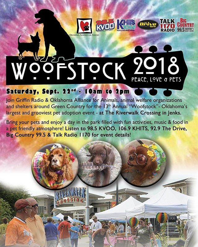 Woofstock is this Saturday 10-2 come see all of the adoptable pets. While you are there come by our booth & say hi!  We will be discussing why we need a DA who will make prosecuting animal abusers a priority & Jenny's other platforms.@okpets #NoExcussForAnimalAbuse #Woofstock @dayforda #oklahomaallianceforanimals @animalallianceok @typros @labrescueokinc @jenks_chamber