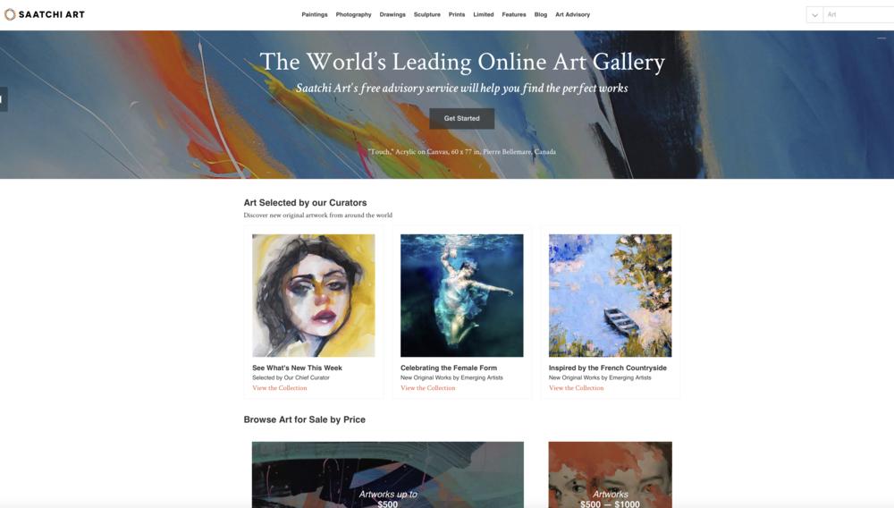 Home page of Saatchi Art_  https://www.saatchiart.com