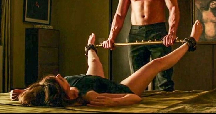 "I'm not into the whole ""inner goddess"" thing, but i'd be down for this kind of ""kinky fuckery"". Still from 50 shades darker."