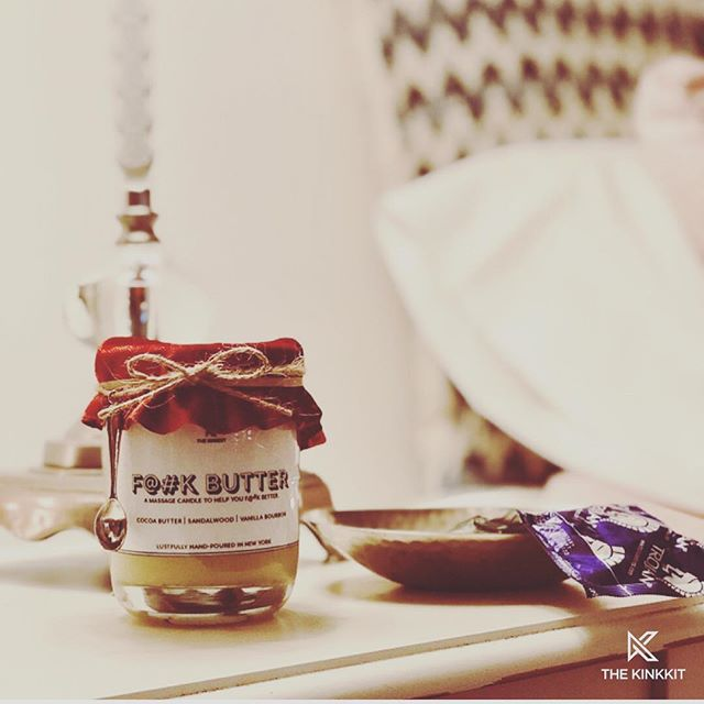 Friends, meet F**k Butter: a massage candle to help you f**k better. 🕯 Take self-love or partnered love to the next level with F**k Butter. Organic cocoa butter, shea butter, almond oil, Vitamin E, essential oils, and other skin-moisturizing goodies makes F**k Butter extra smooth and silky. And it smells pretty f**king good too. 🕯 Just light the candle, use the spoon to scoop up the melted F**k Butter, and go to town on yourself or a partner. 🕯 F**k Butter is for external use only and should not be used as a lubricant. 🕯 For now, F**k Butter will only be ON SALE at the Sex Expo in Brooklyn this weekend, Sept 22nd & 23rd! It will be available on www.theKinkKit.com by October 1st!
