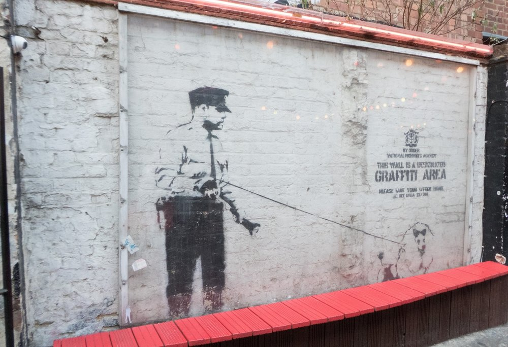 Banksy's 'Designated Graffiti Area'