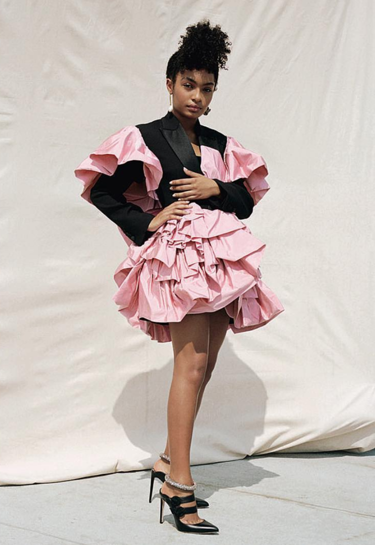 Yara Shahidi in Elle UK