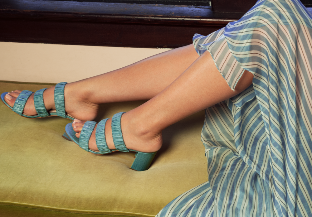 The Signature Scrunchie - The Ruched Mule for Day or Night