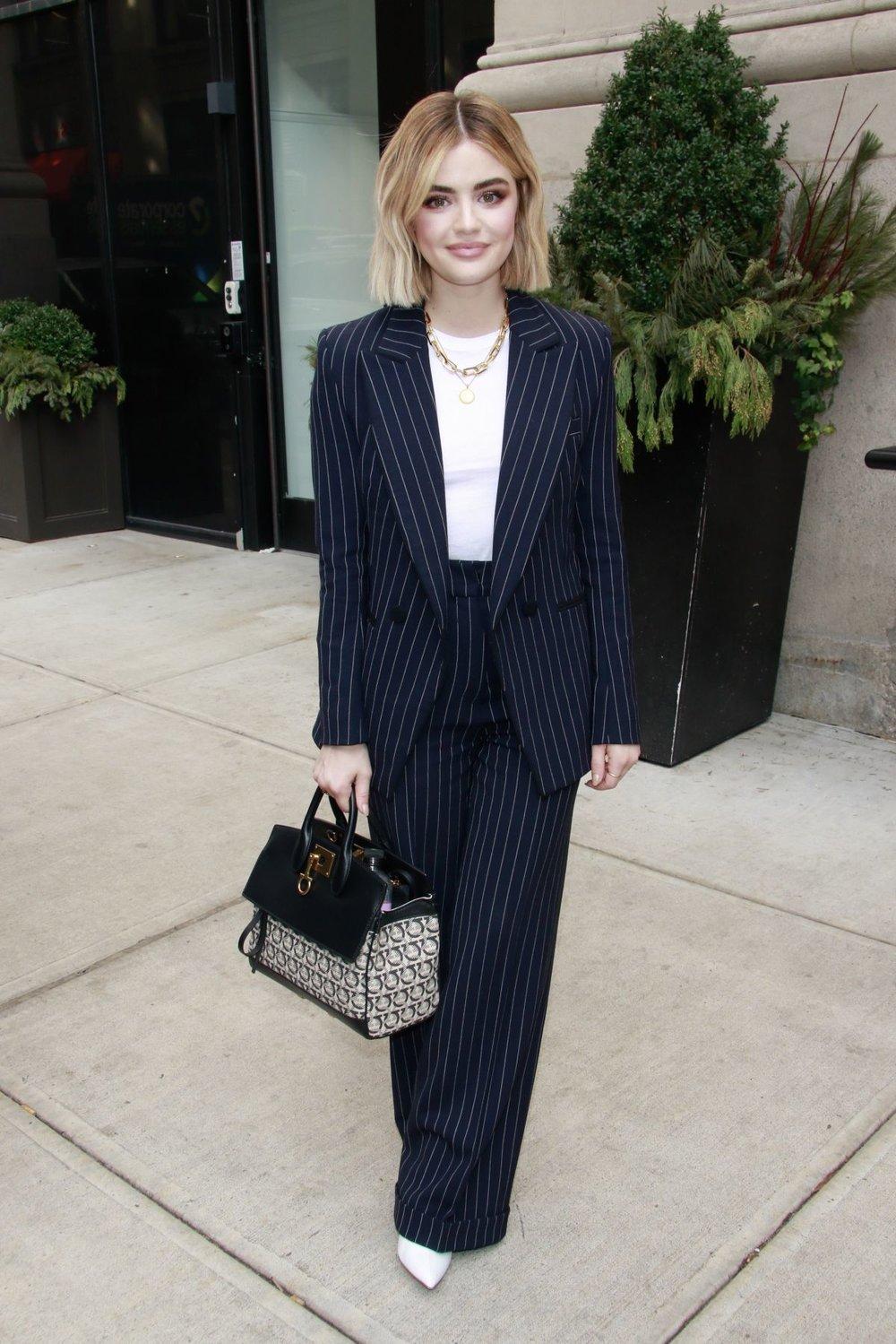 Lucy Hale wears Maud