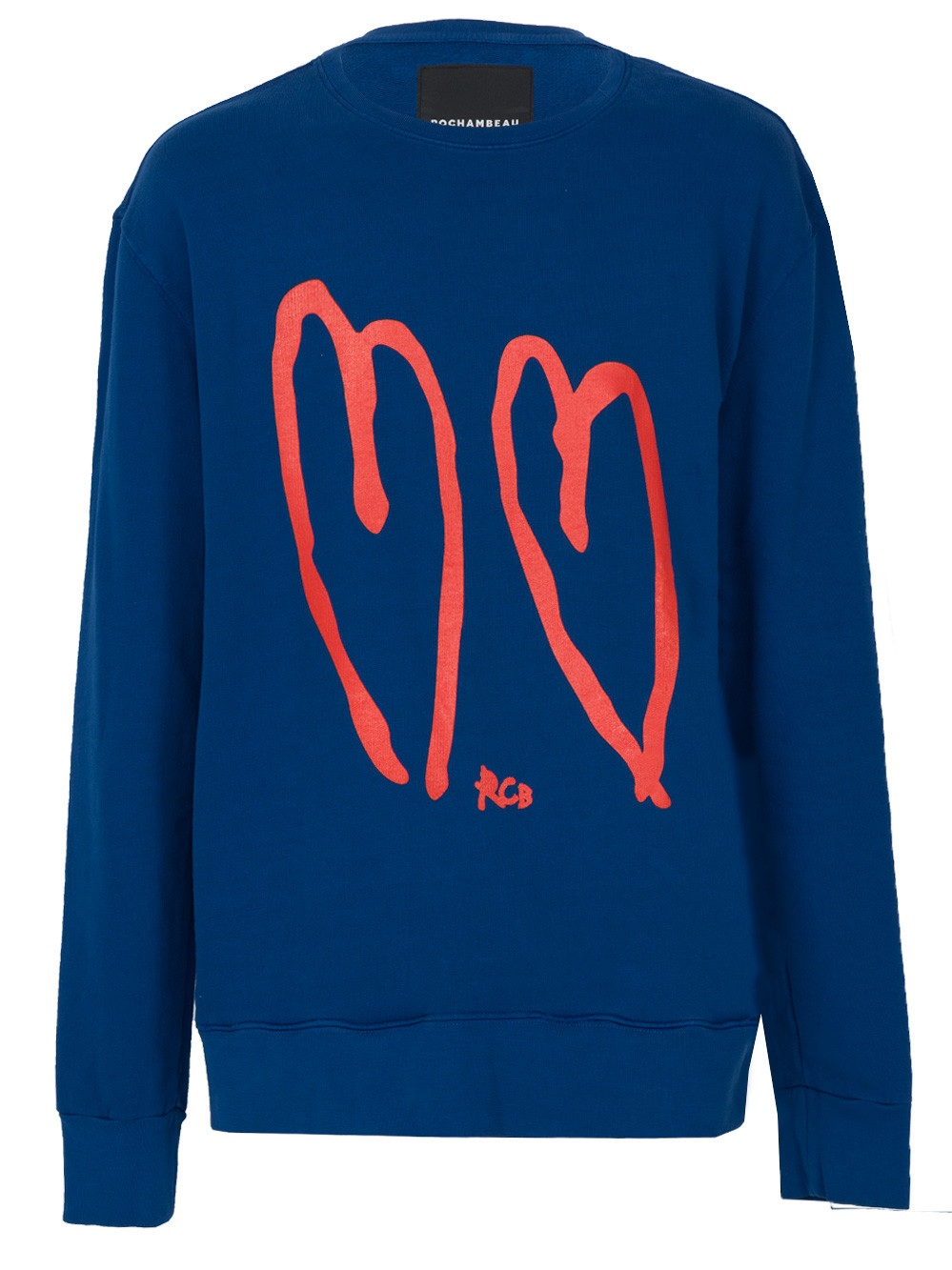 Some wear their heart on their sleeve; this sweatshirt by Rochambeau takes that idea a step further with a heavy dose of streetwear cred.   Core crew neck sweater, $280,    The Webster