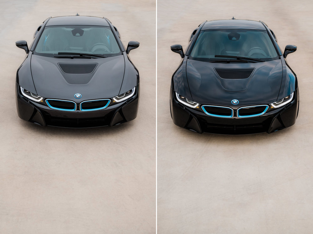 Bmw I8 Color Change Vinyl Wrap Before After Wichita Clear