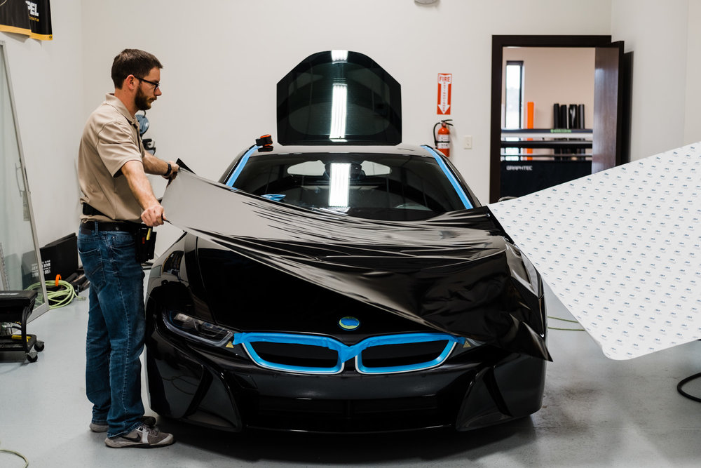 Bmw I8 Color Change Vinyl Wrap Ceramic Pro Coating Wichita