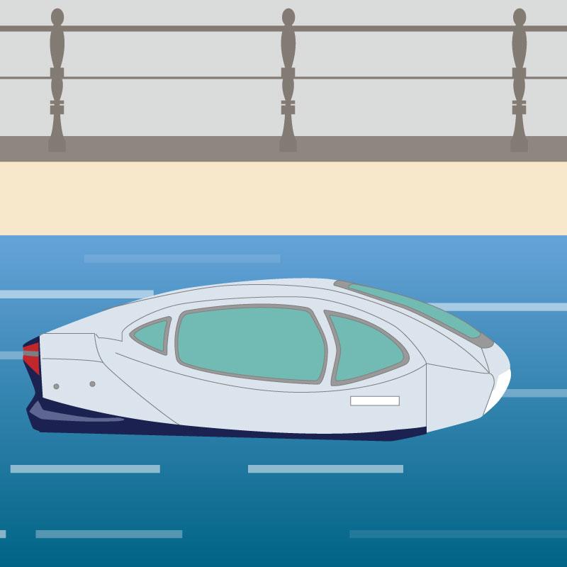 Proposition #14 - Anticiper l'arrivée des modes disruptifs (drones, navette fluviale rapide…), faciliter leur financement et définir une feuille de route pour leur intégration