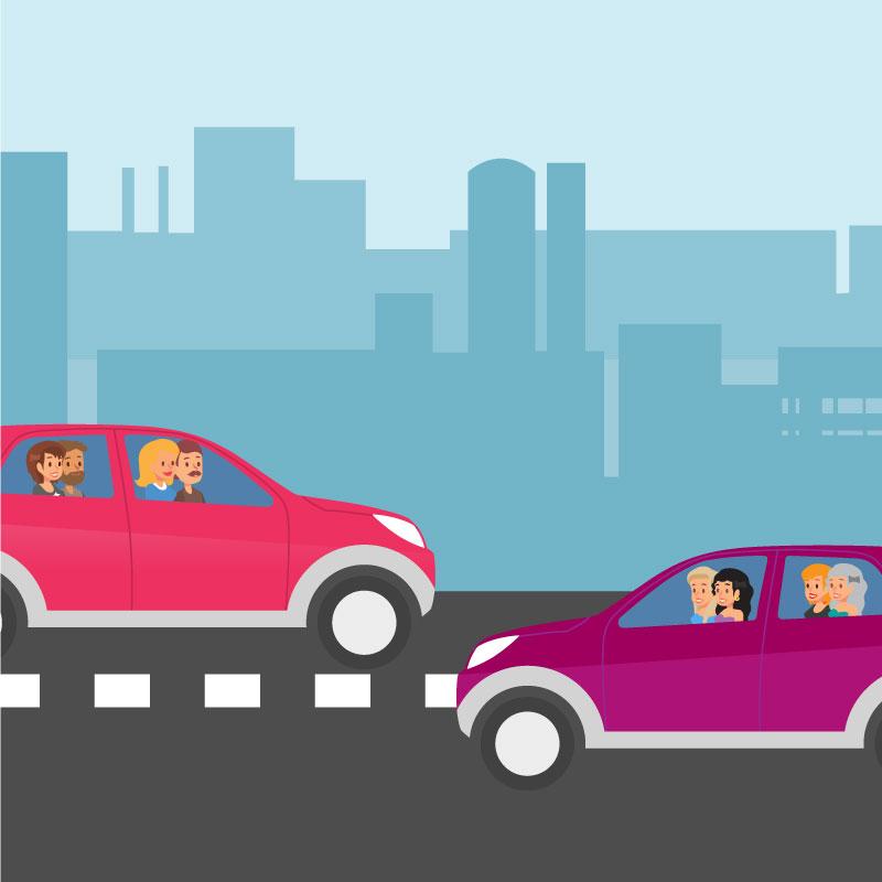 la mobilité partagée - Minimiser les coûts de mobilité pour les utilisateurs et la collectivité, maximiser l'utilisation des véhicules et infrastructures