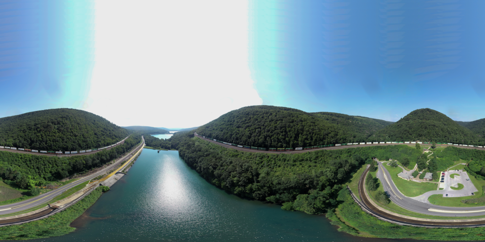 Panoramic of Horseshoe Curve, Altoona, PA.  Given the U-shaped subject, this is probably one of the most interesting places in America to shoot panoramic photos!  Fortunately, it is only about 10 miles from my house.