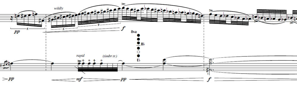 Luminous Blue Variables , opening measures