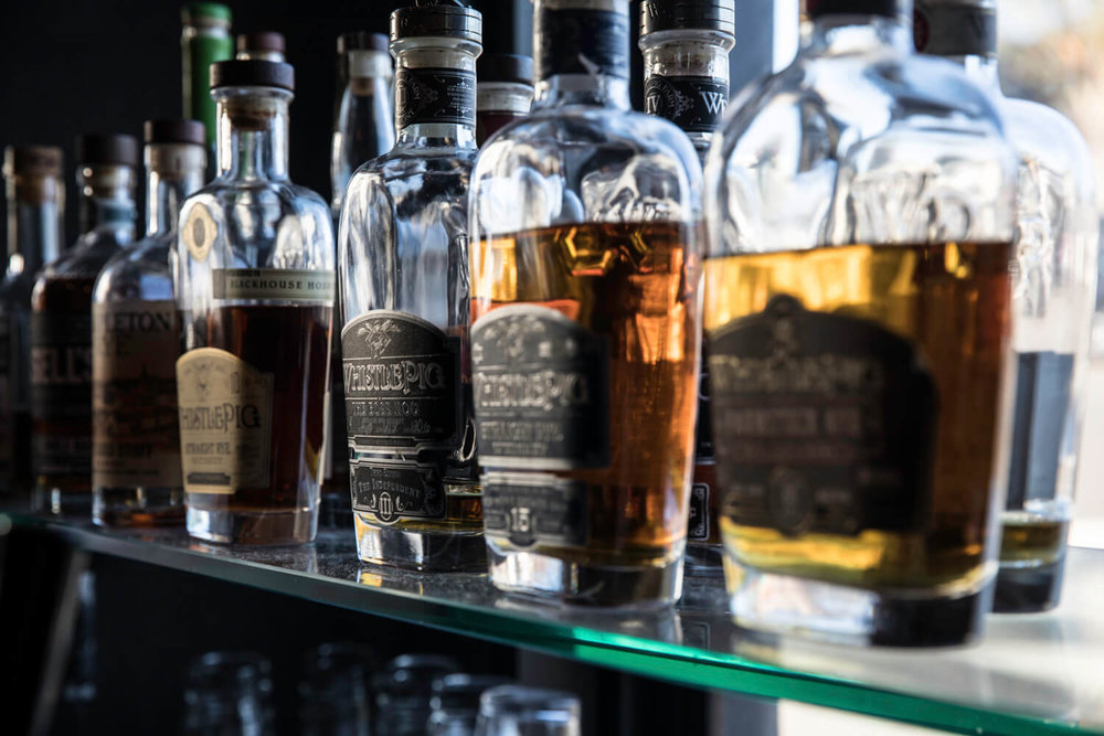 Selection of Whiskies & Scotch at Steak & Whisky