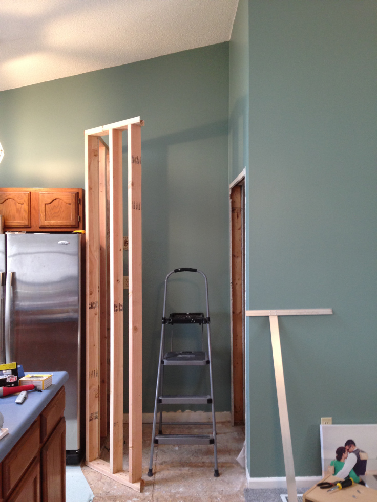 Framing out the pantry walls