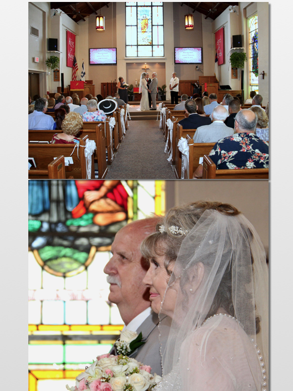 Quaint Setting... - Built in 1945, the sanctuary boasts spectacular stained glass windows to capture the Florida sun from all directions, welcoming your guests and creating a perfect environment for your wedding.