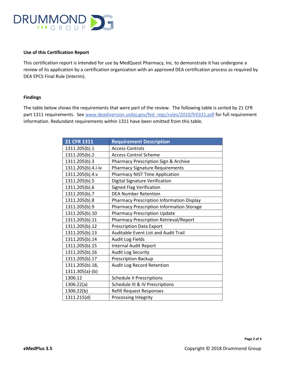 Certificate Emedplus Information