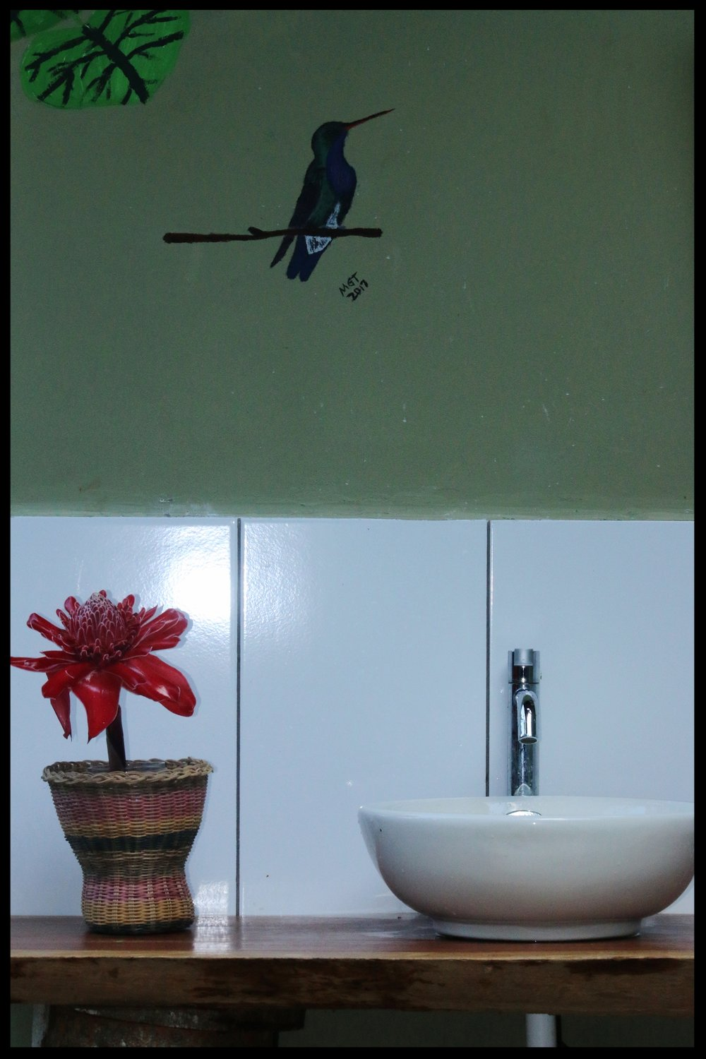 You'll see birds everywhere you turn . . . even on the walls!