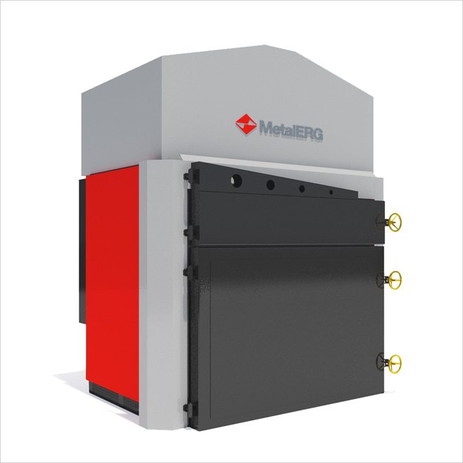 Ekopal S - Based on the straw-fired boilers type EKOPAL RM, the company METALERG has developed the designs for a range of air heaters that allow you to heat air to 248 ° F.
