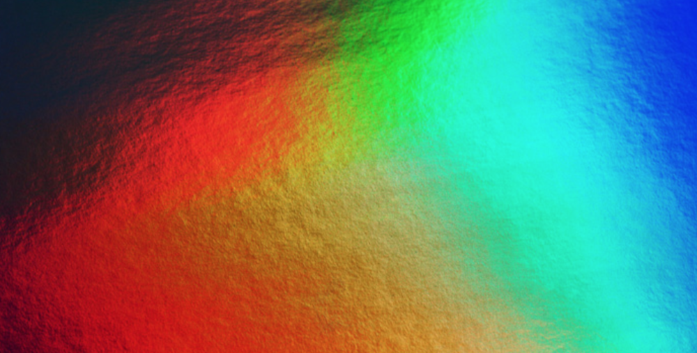 Folienkaschierung mit Rainbowfolie
