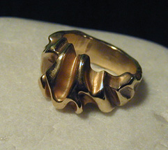 !8k Gold cast ring— Sold